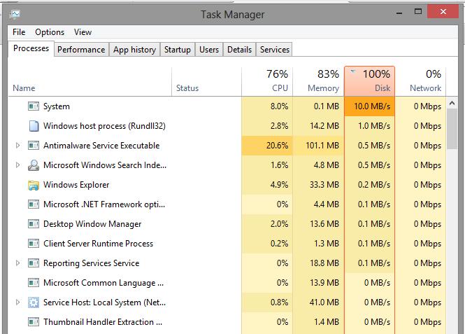 mengatasi windows 8.1 100% disk